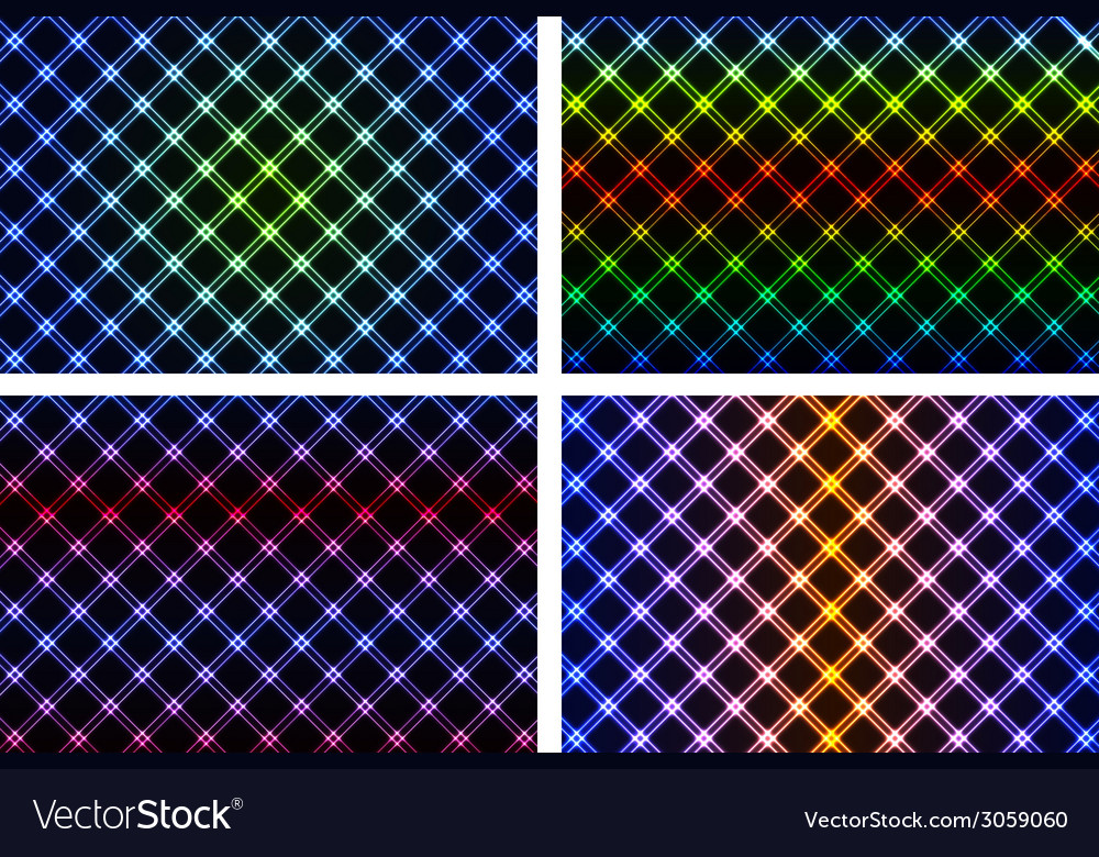 Abstract colorful neon background vector