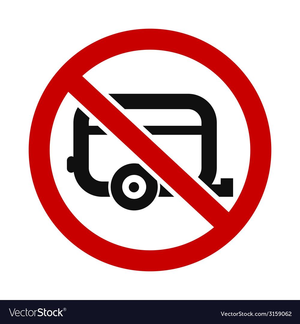 Caravans not allowed vector