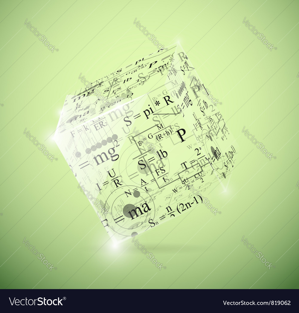Physical cube vector