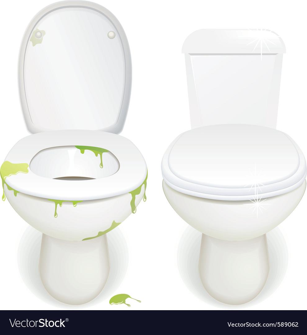 Toilet clean  dirty vector