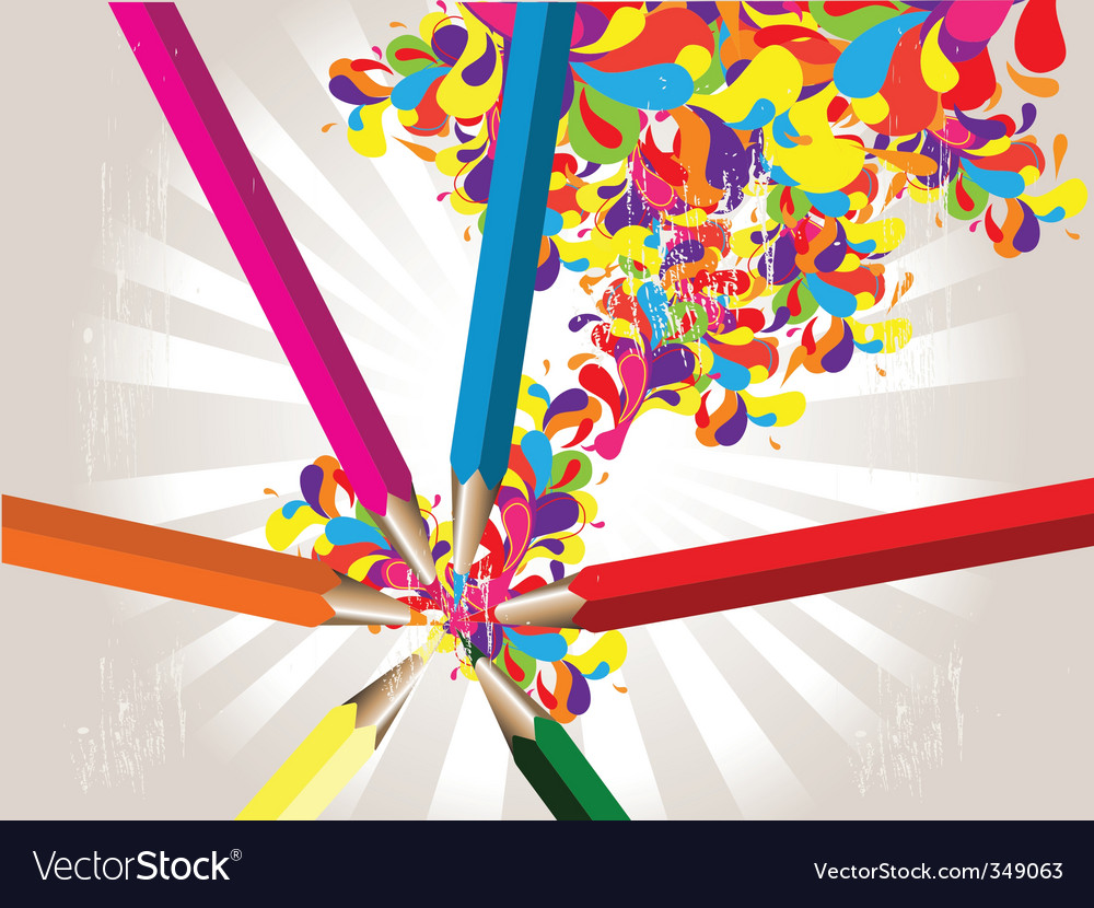 Coloured pencils background vector