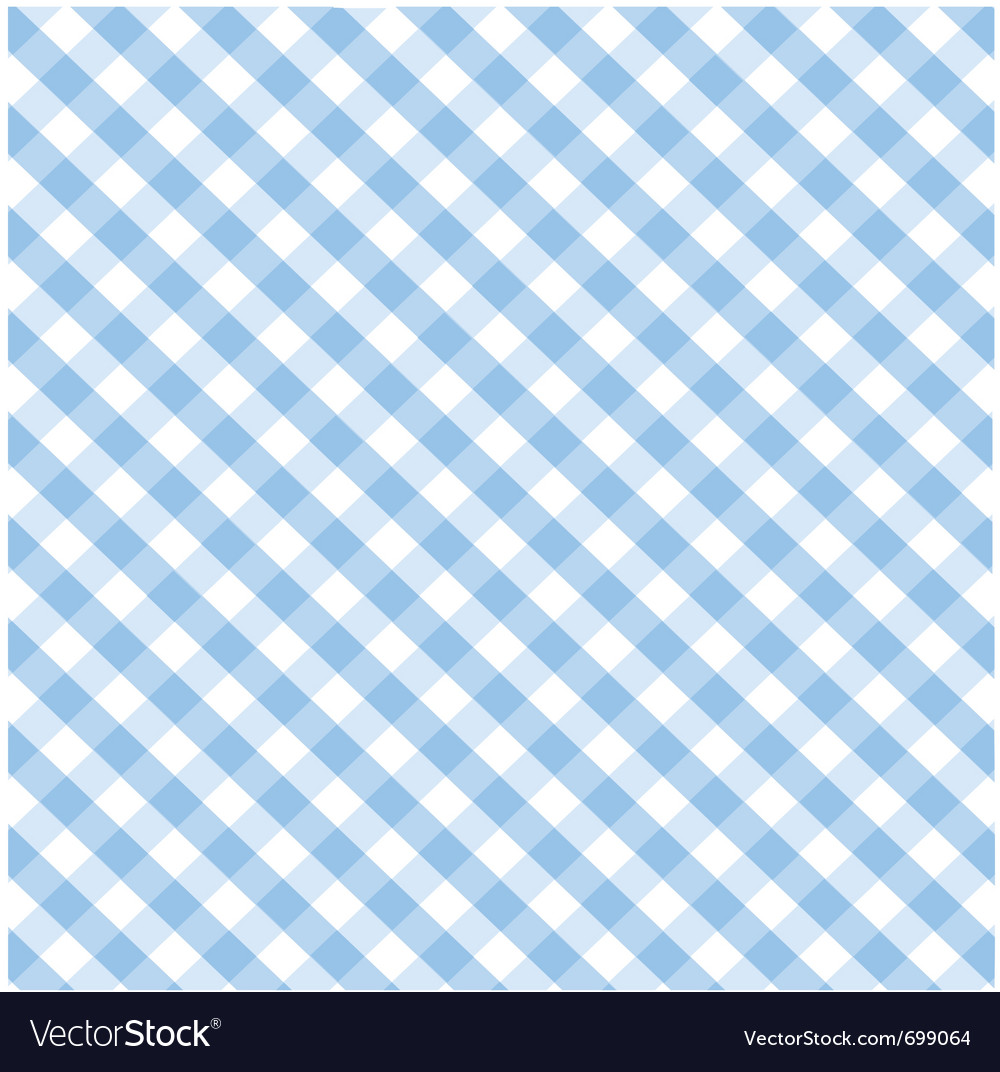 Seamless blue plaid pattern vector