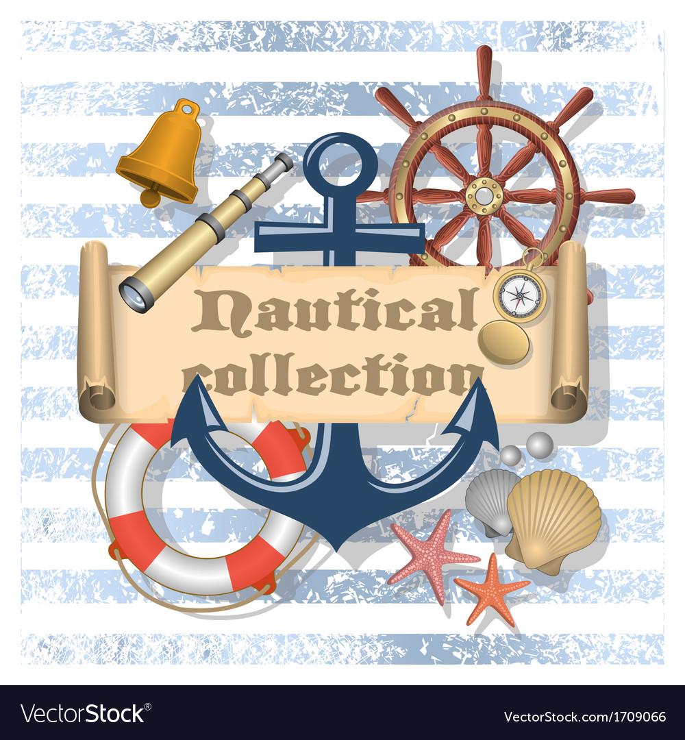 Nautical collection 4 vector