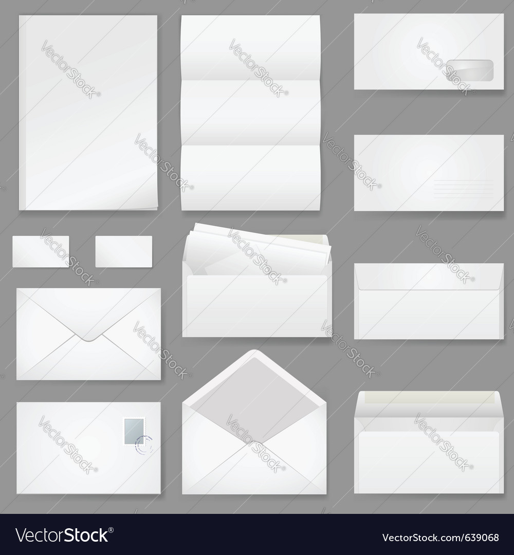 Office paper vector