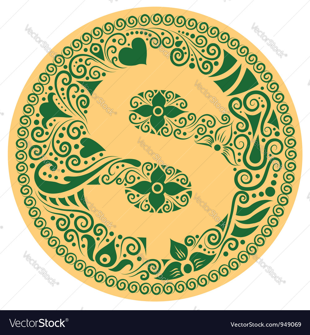 Dollar ornament vector