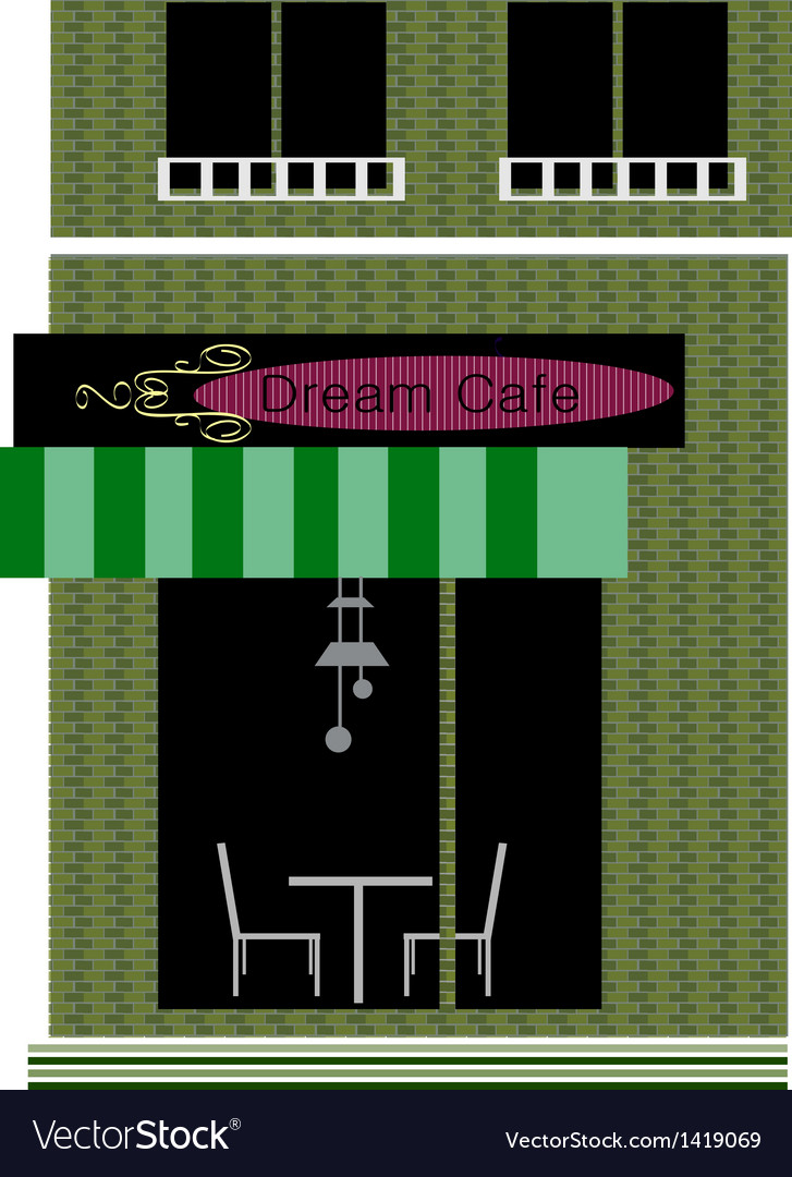 Dream cafe shopfront vector