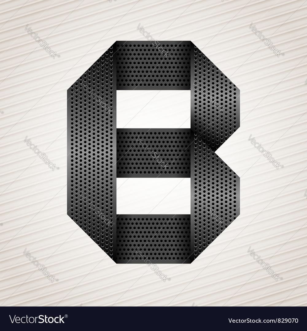 Letter metal ribbon - b vector
