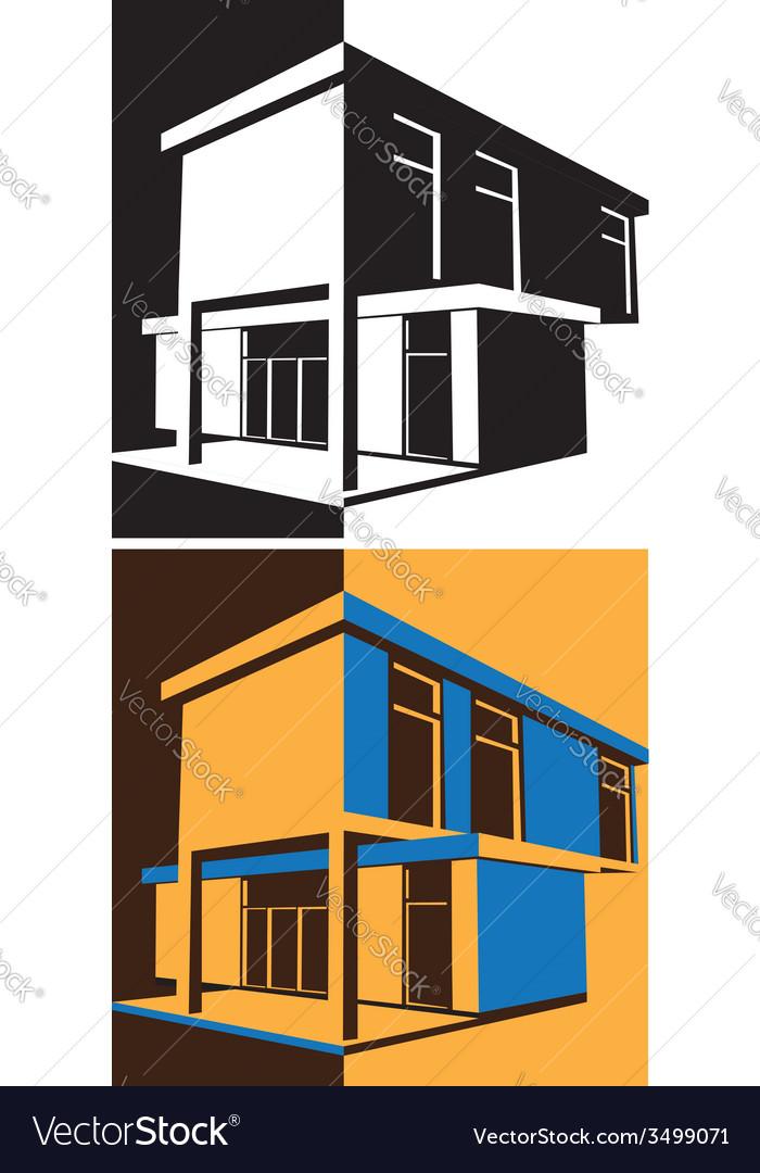 Block house vector