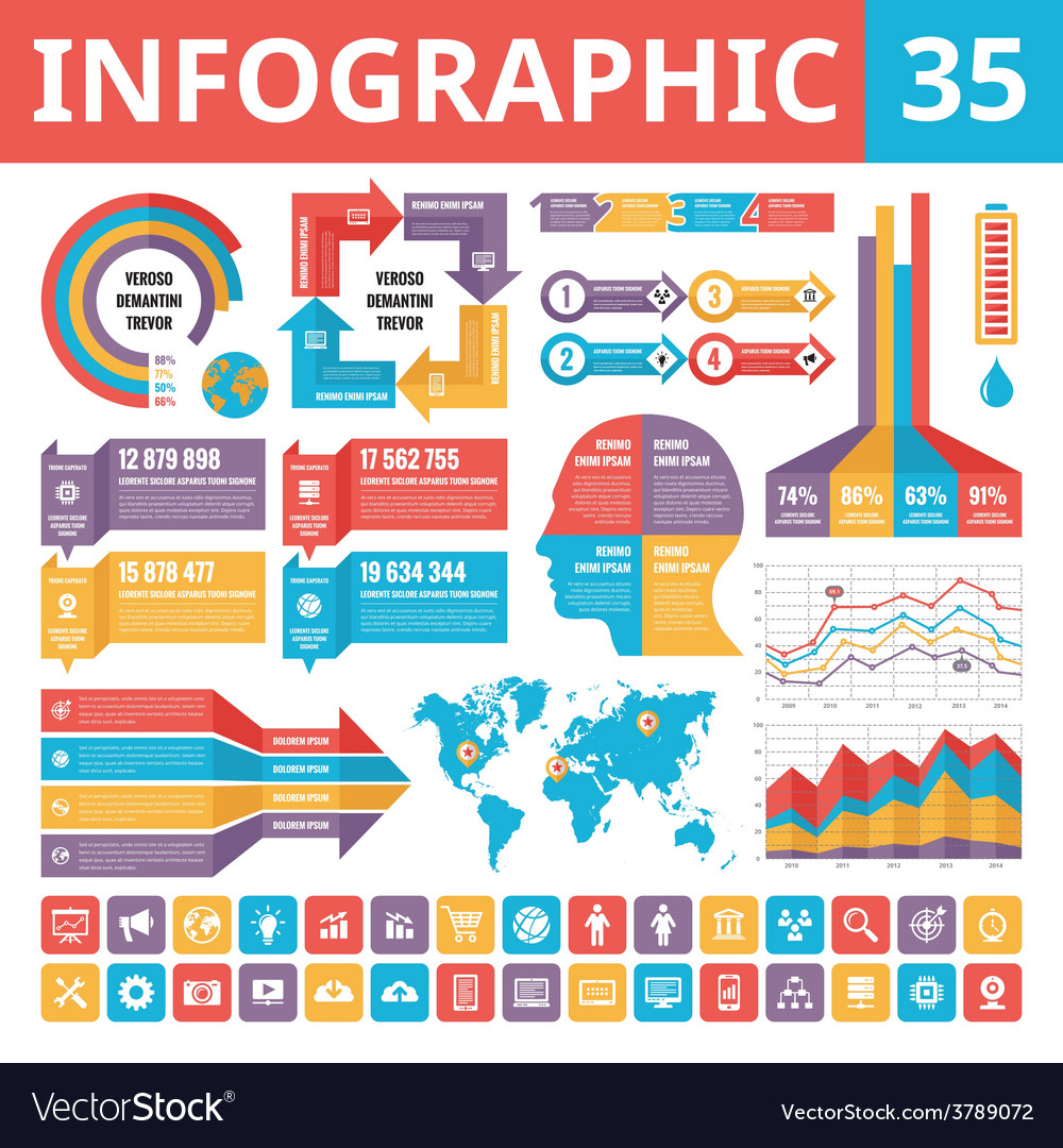 Infographic elements 35 vector