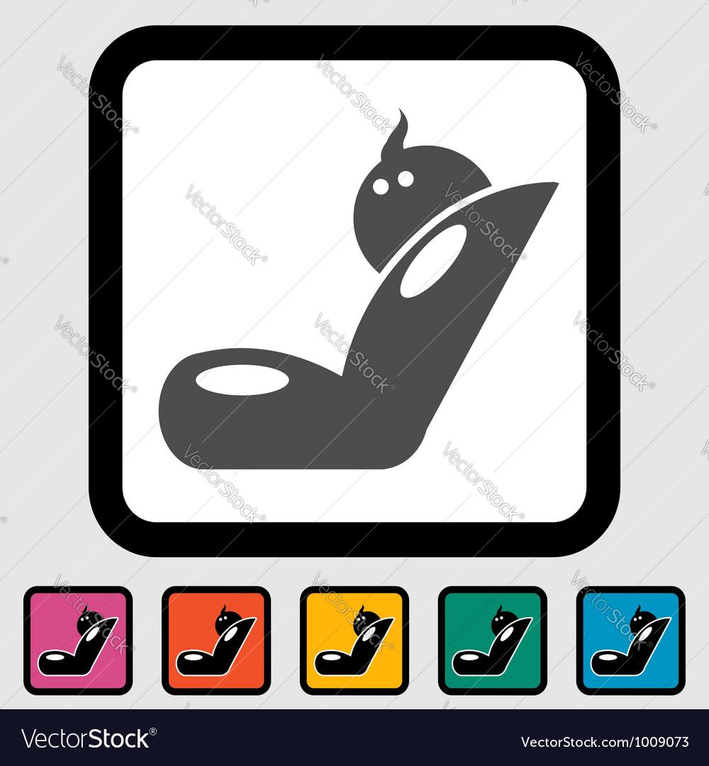 Child car seat icon vector