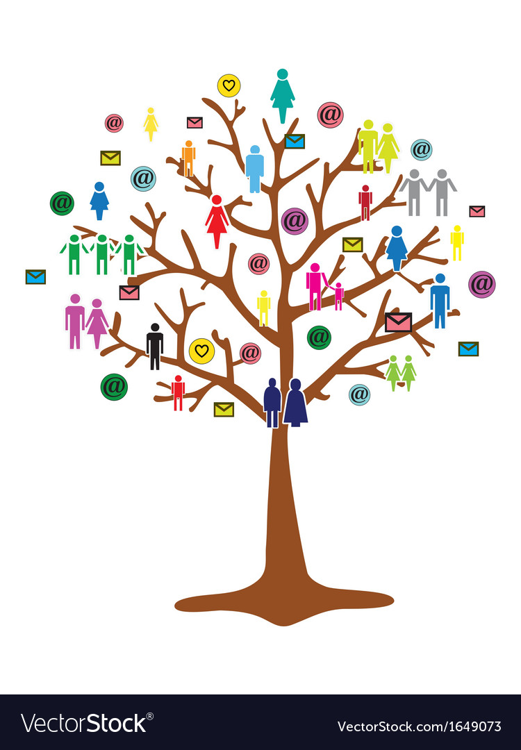 Team work tree vector