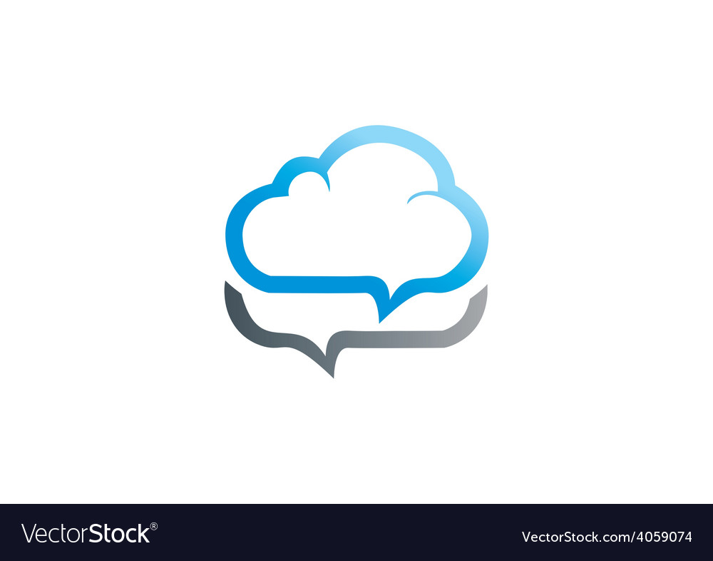 Cloud talk icon logo vector