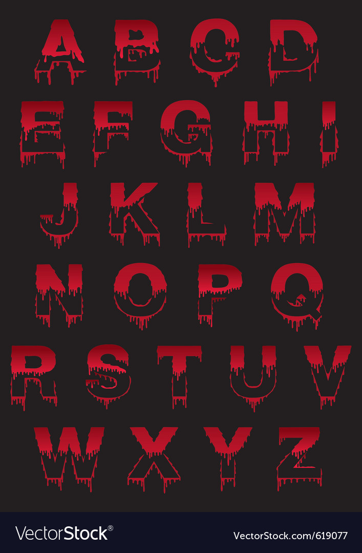 Latin symbol font with drop vector
