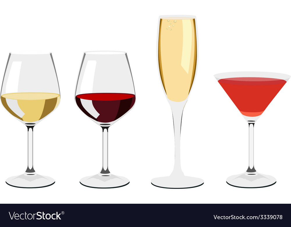 Glass set vector