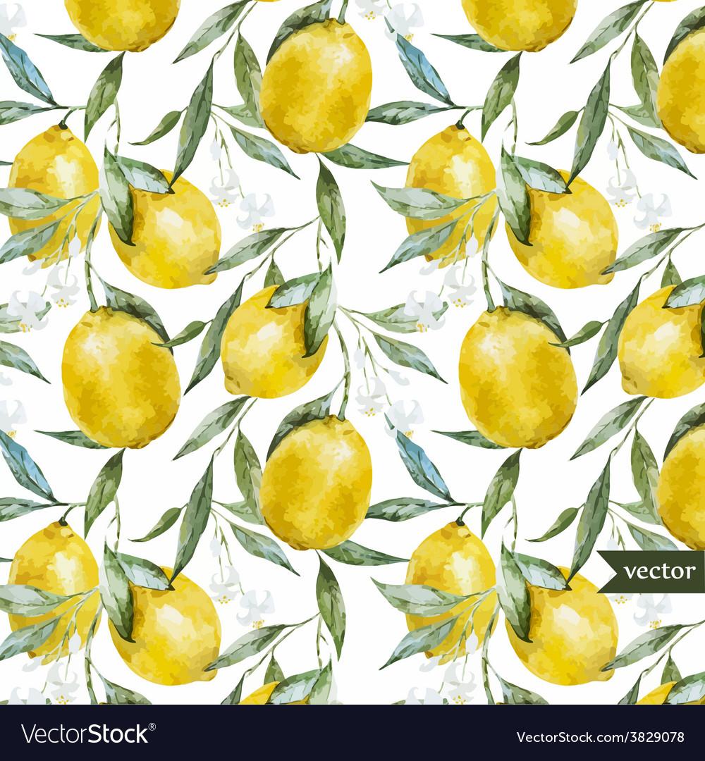 Lemon pattern5 vector
