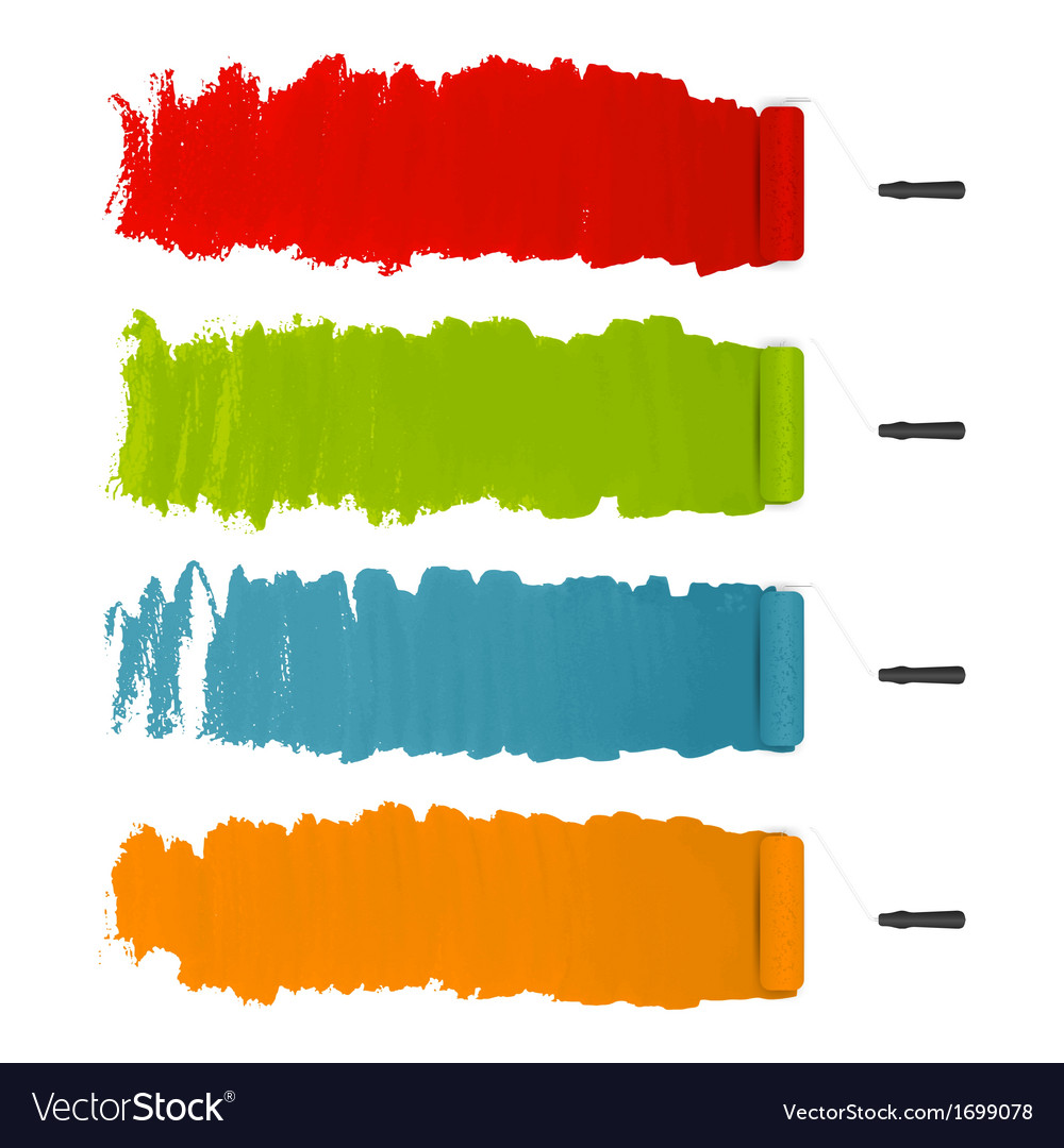 Paint roller strokes vector