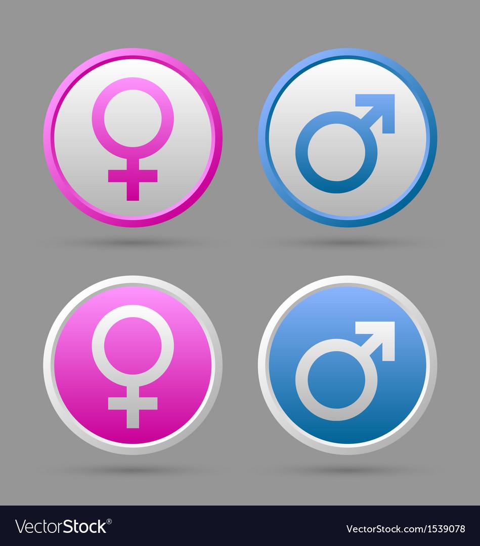 Venus and mars female and male symbols vector