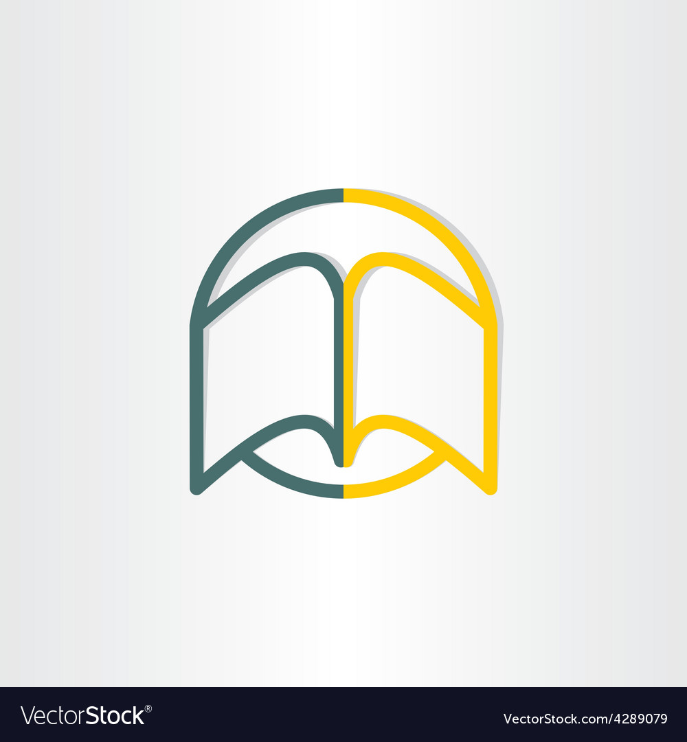 Open book abstract symbol design vector