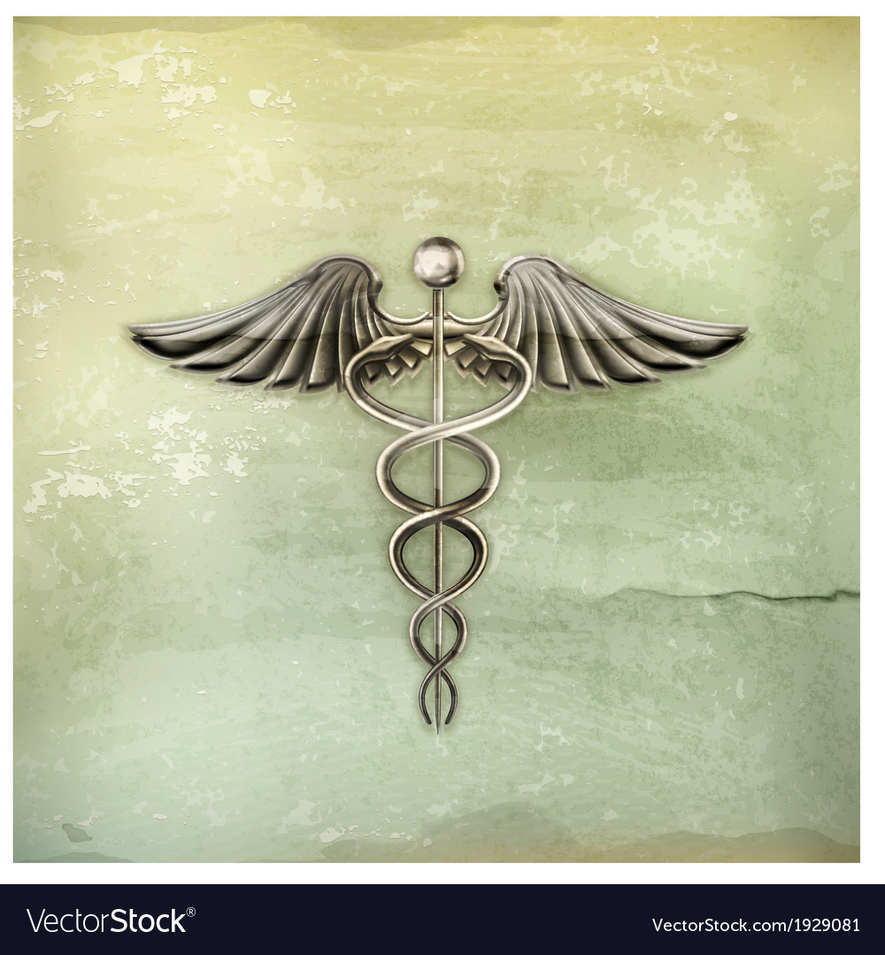 Caduceus old-style vector