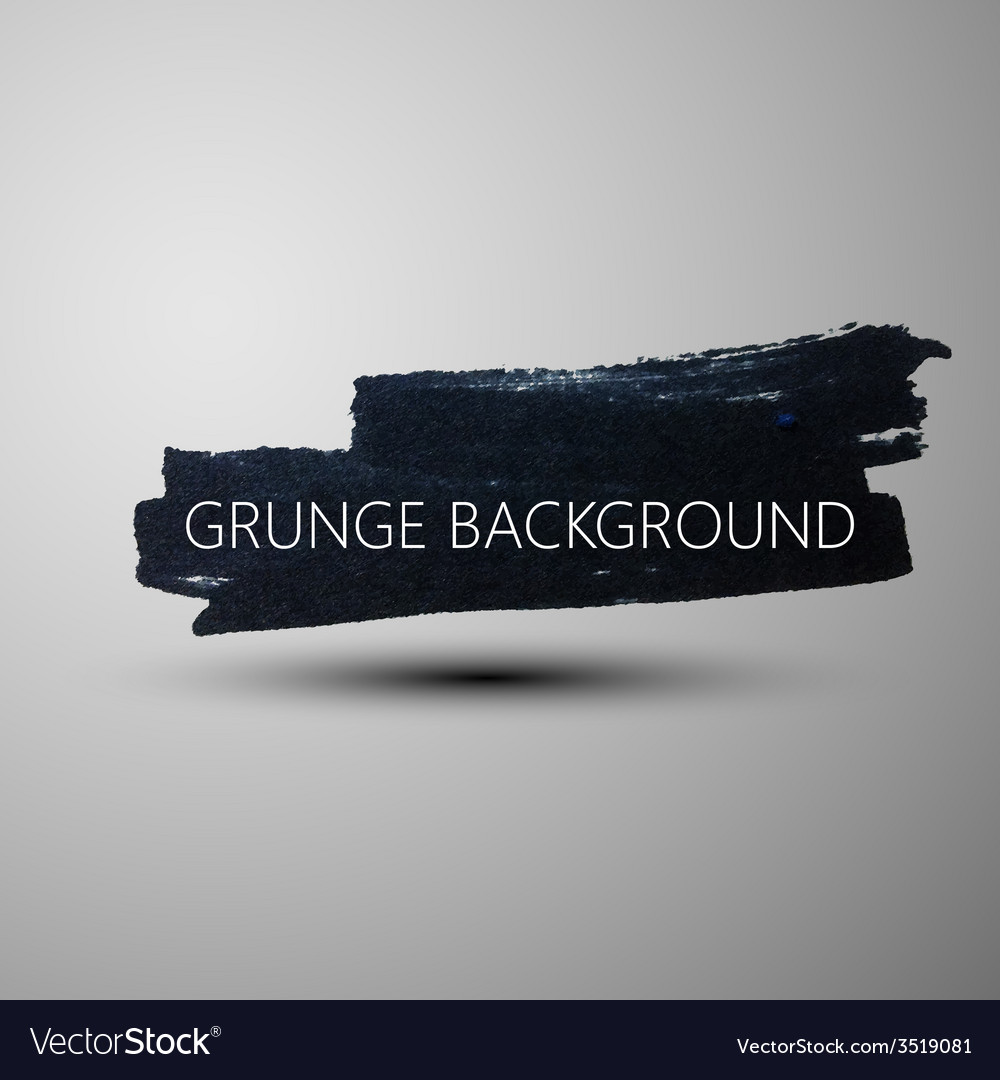 Grunge marker stain banner brushed ink texture vector