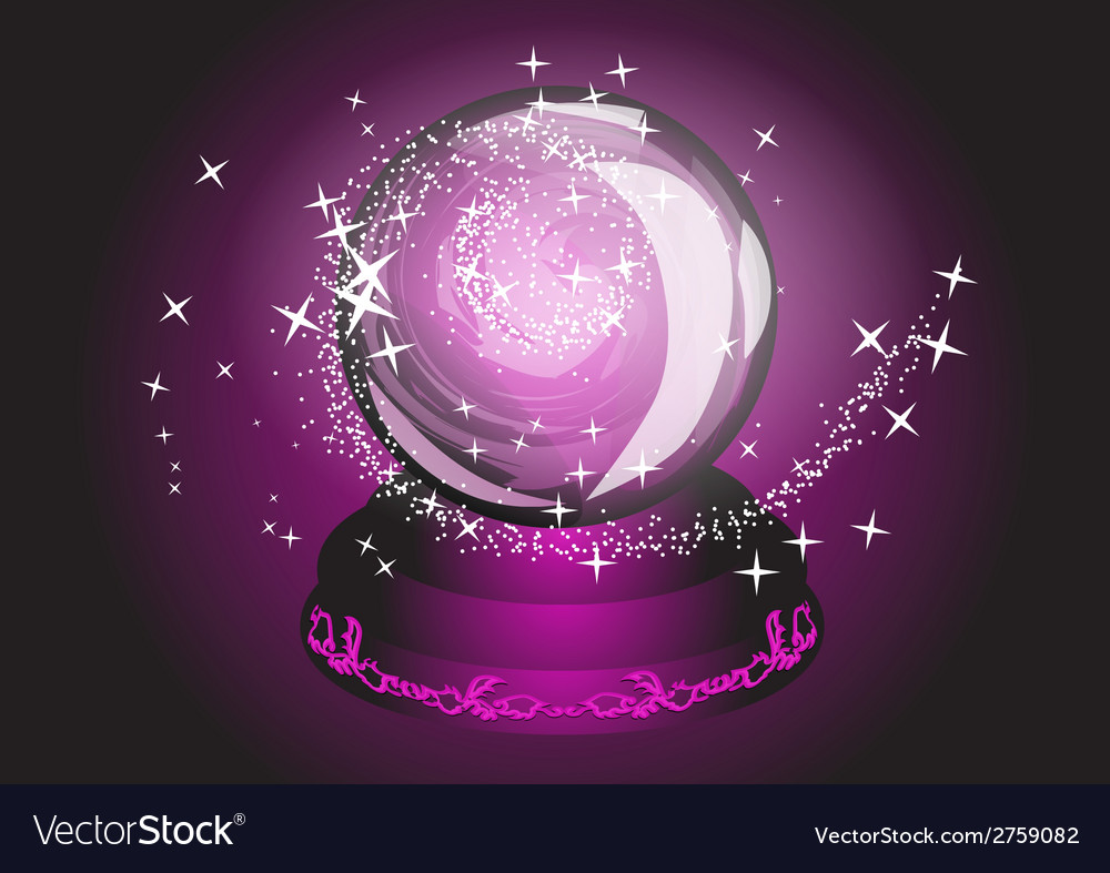 Violet cristal ball vector