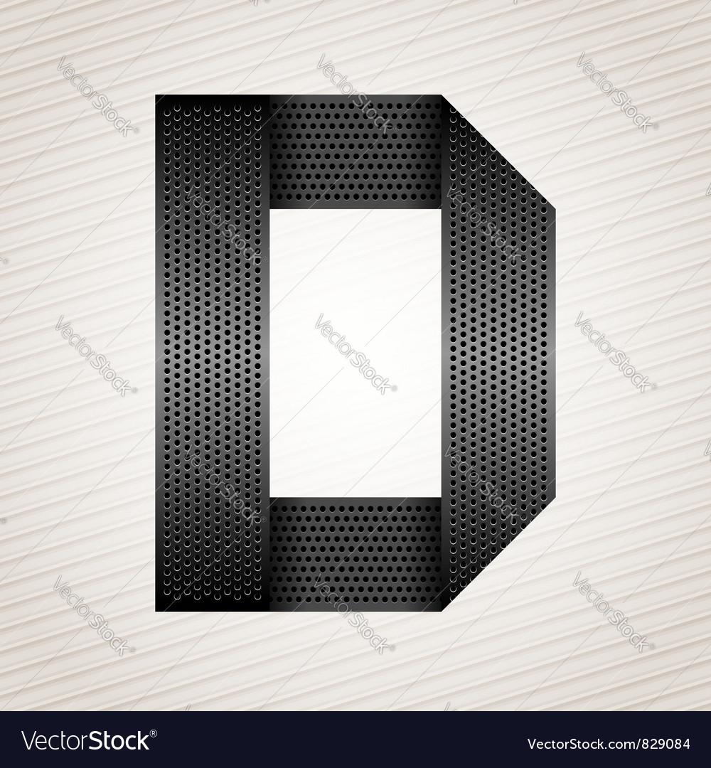 Letter metal ribbon - d vector