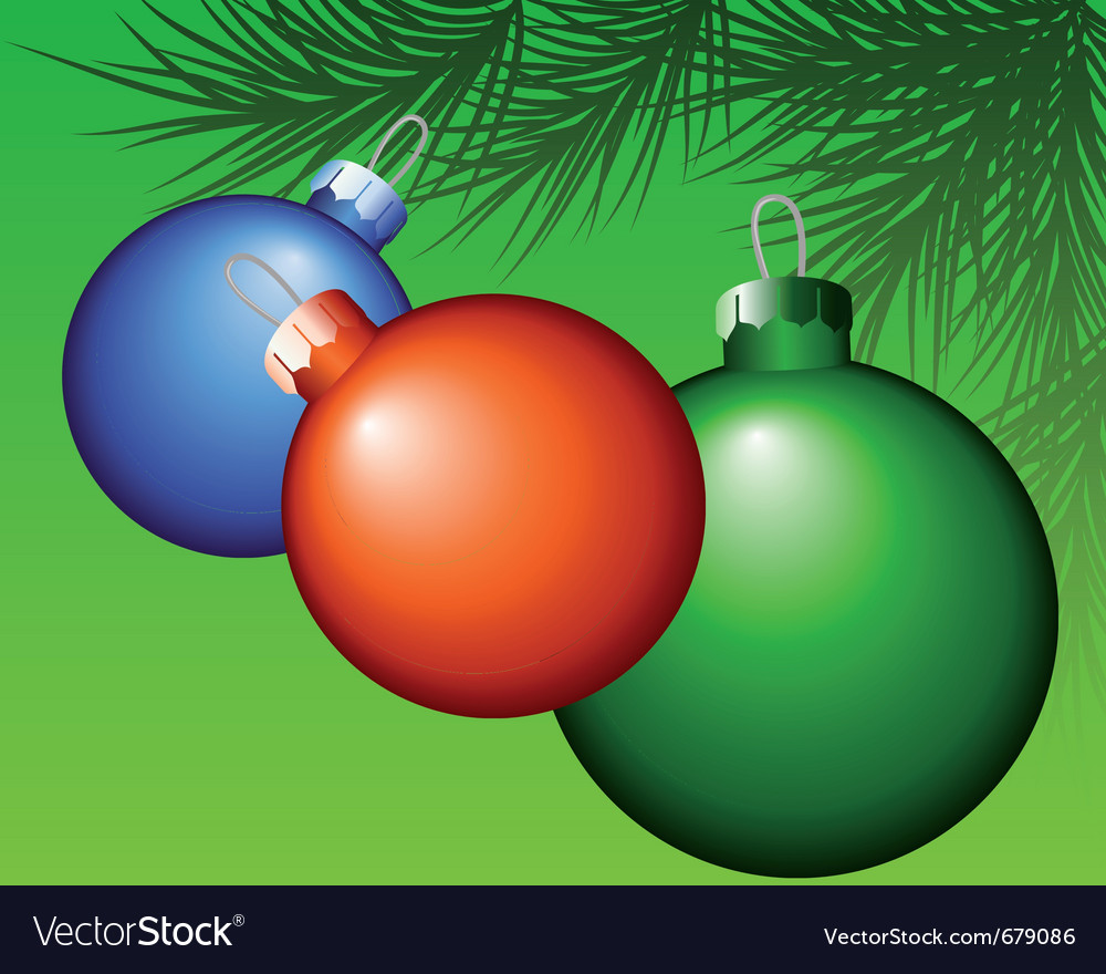 Christmas bauble decoration vector