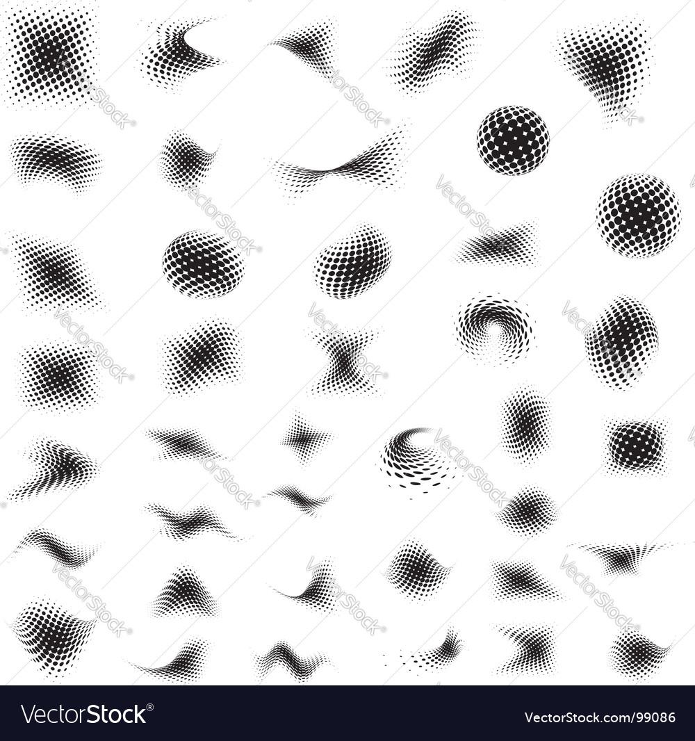Half tones mix vector