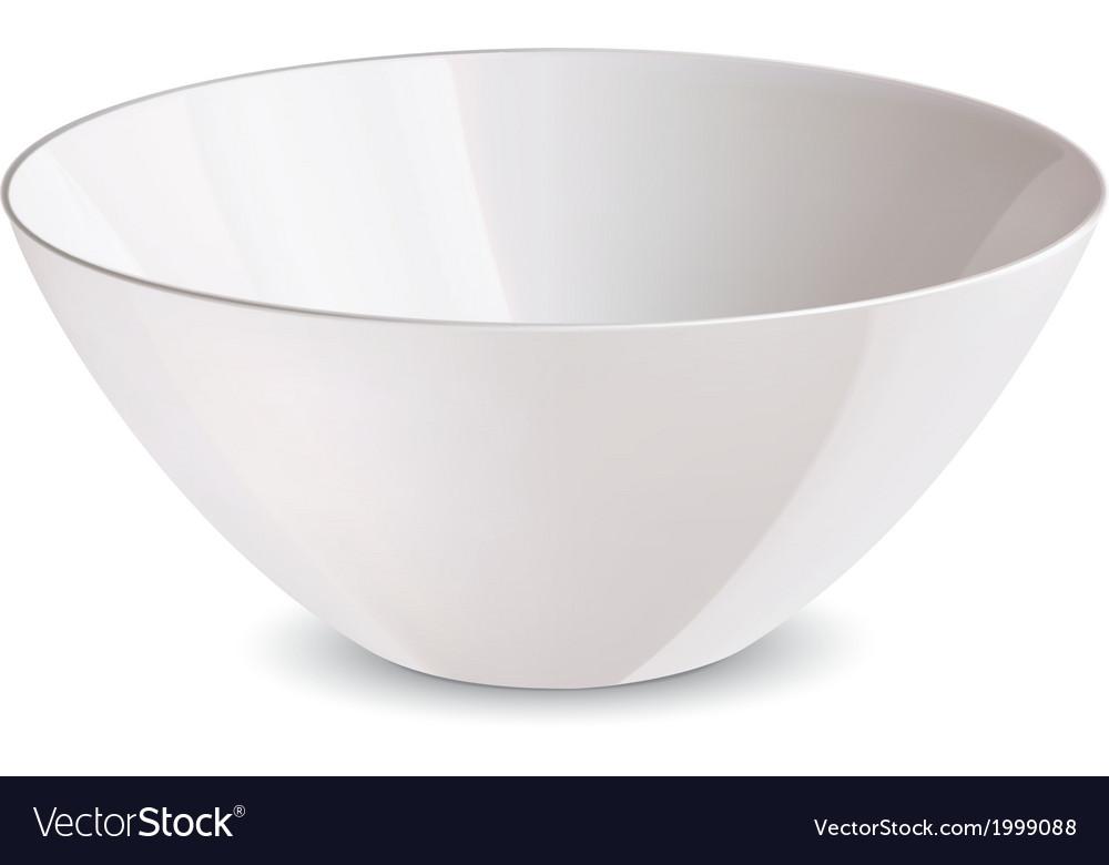 Bowl white vector