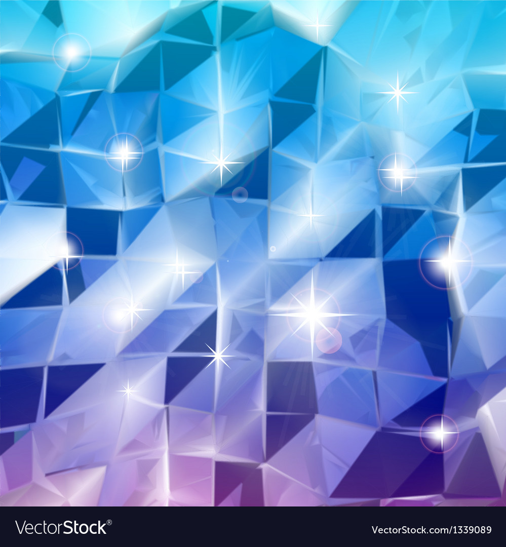 Blue triangles shine background vector