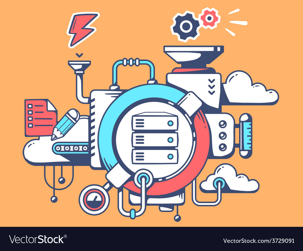 Mechanism with work server and relevant i vector