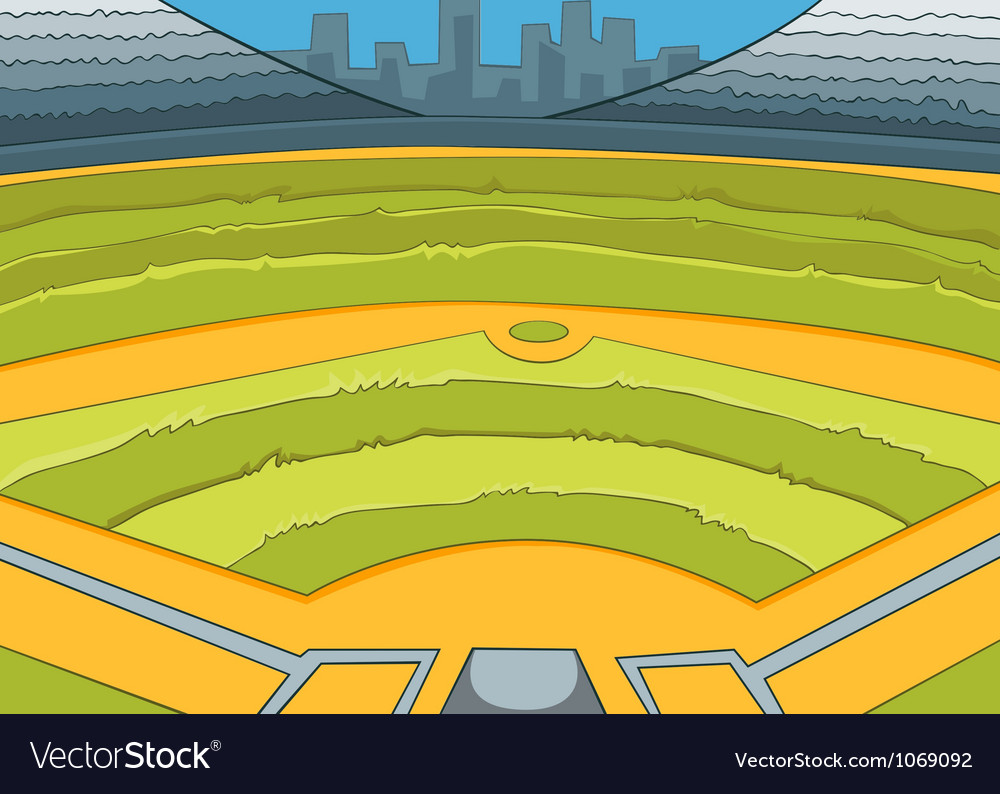 Baseball stadium vector