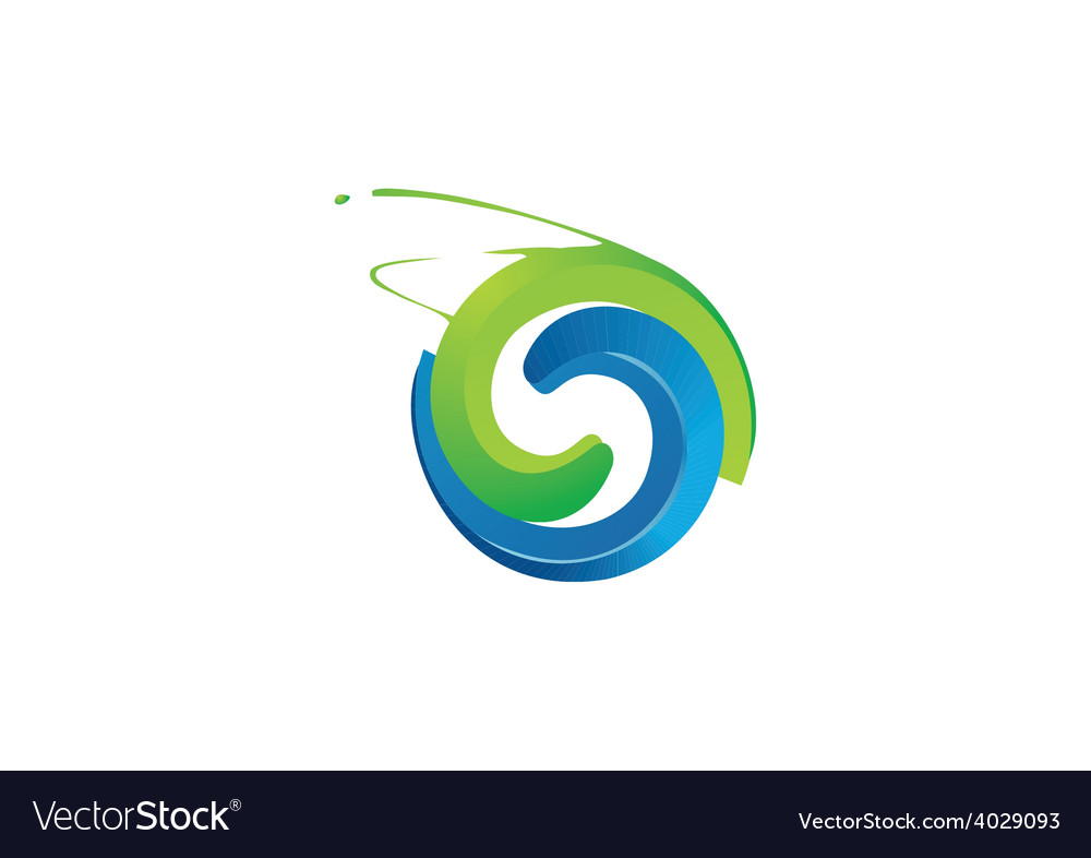 Abstract circle grunge logo vector