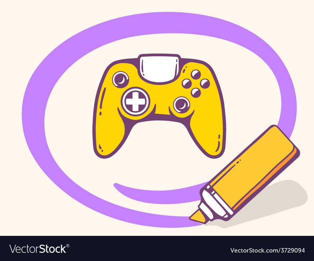 Marker drawing circle around joystick on vector
