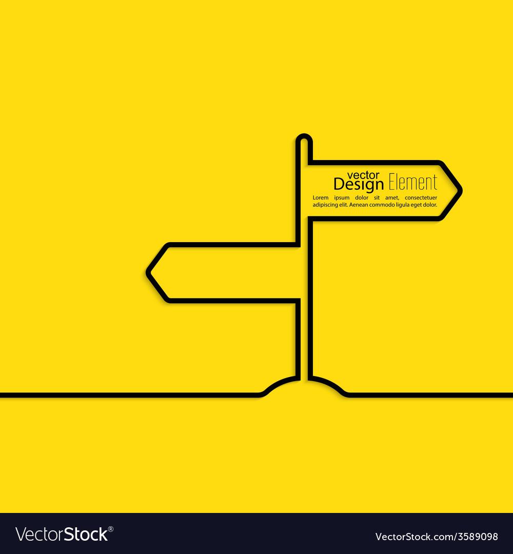 Direction arrow sign vector