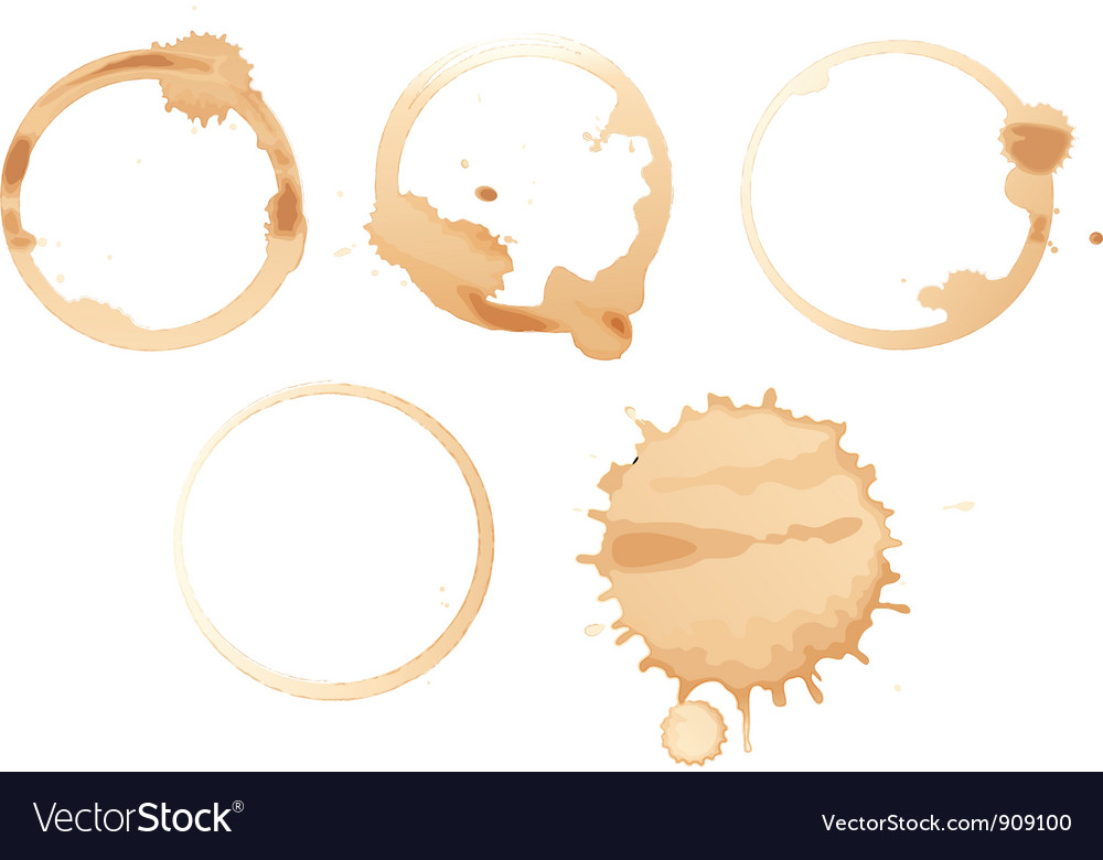 Coffee stains vector