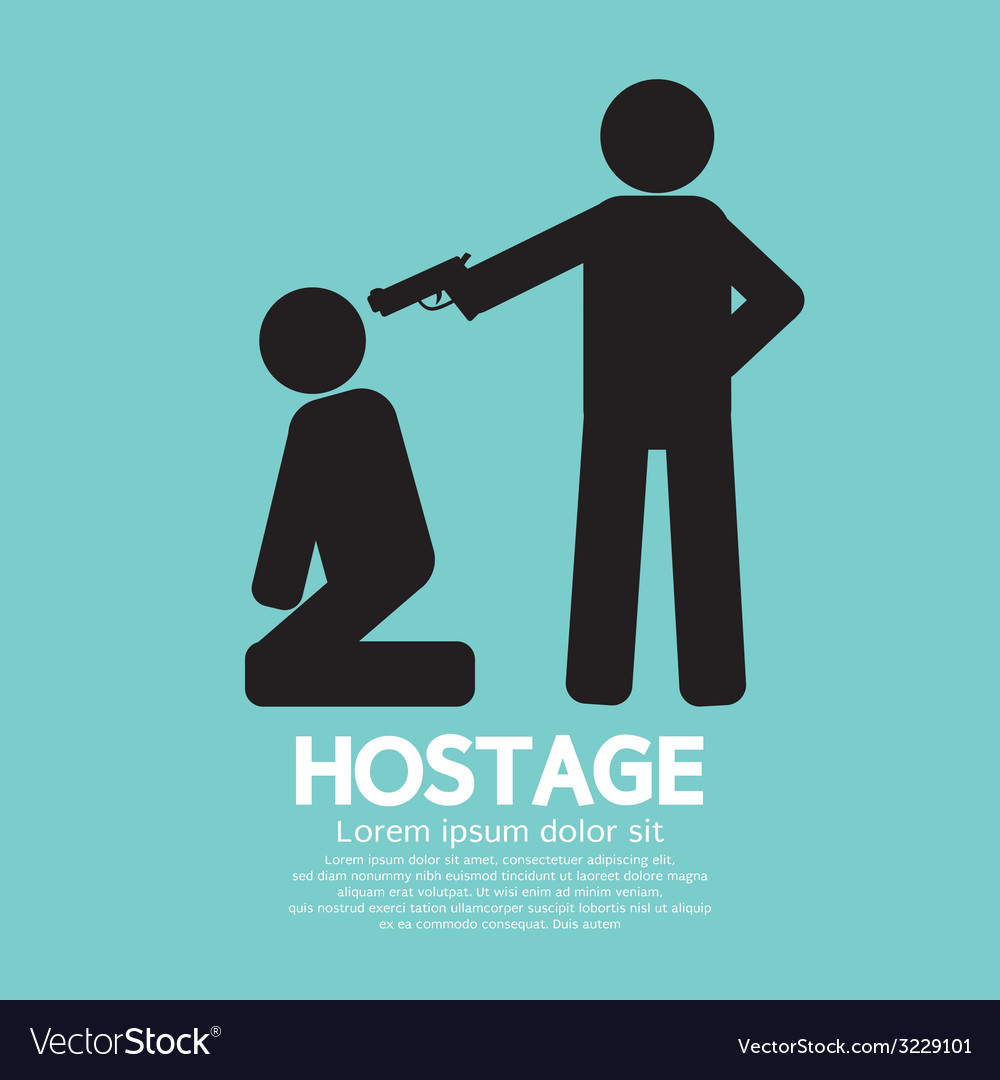Hostage graphic sign vector