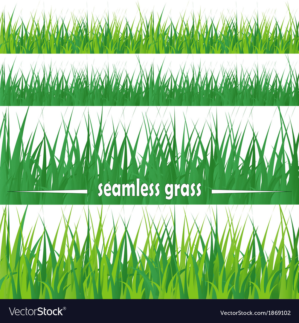 Set of seamless grass vector