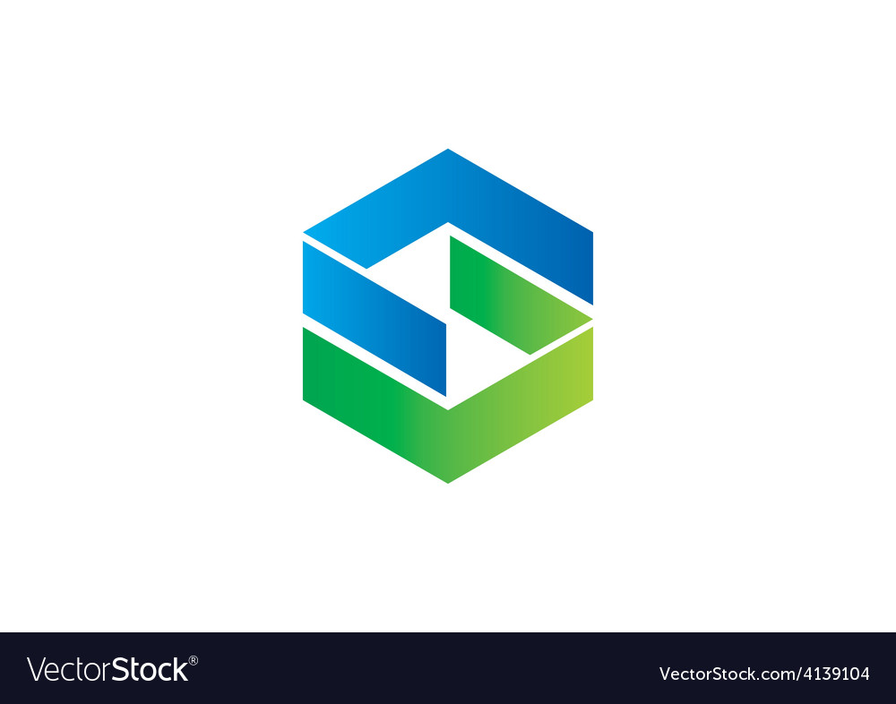 Shape s geometry abstract logo vector
