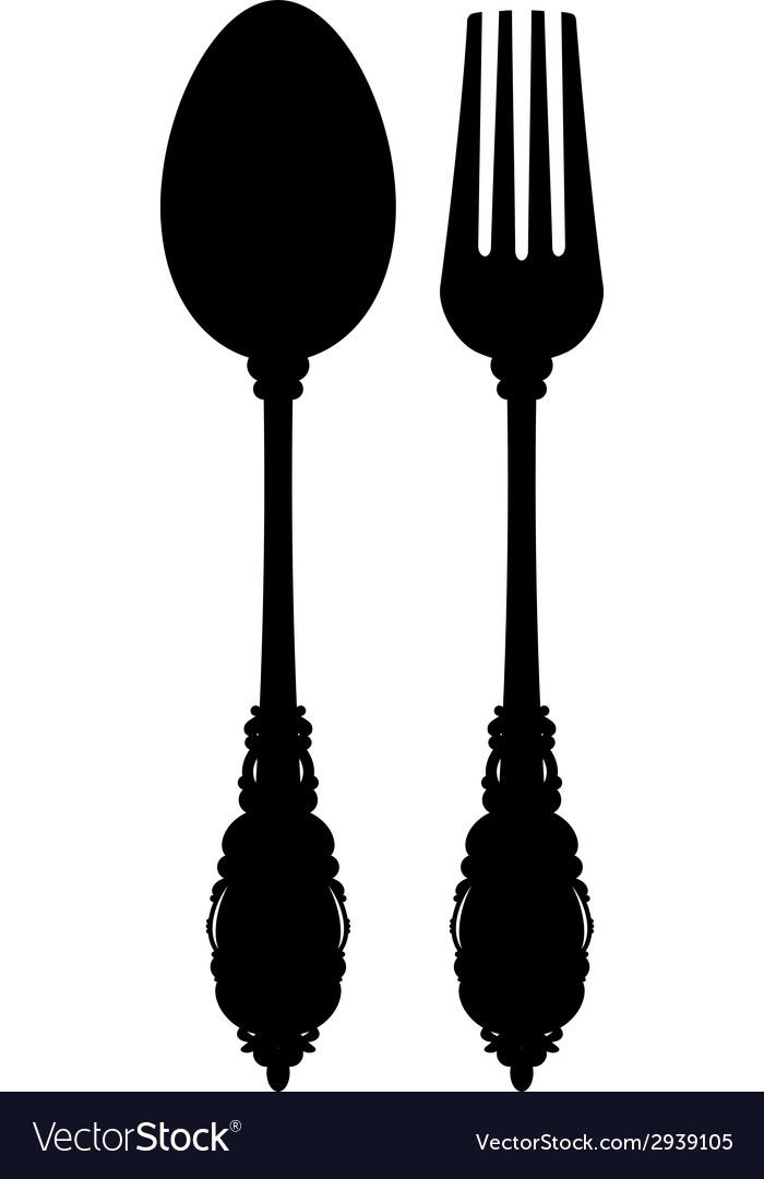 Cutlery silhouette vector