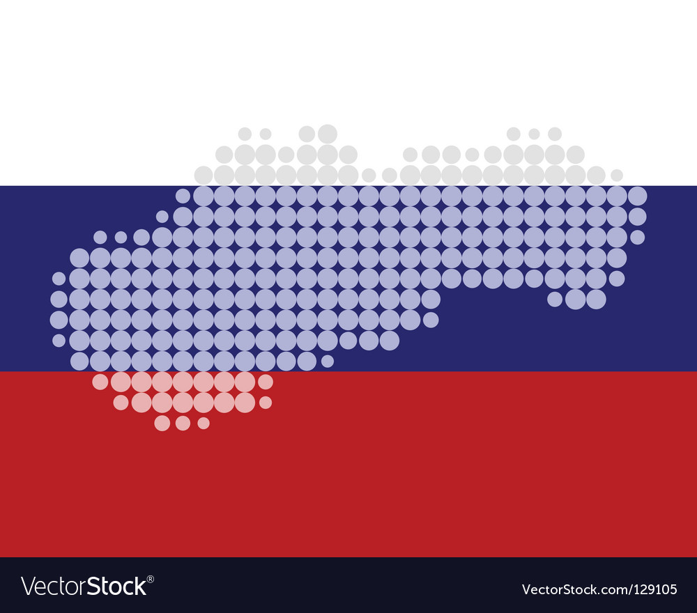 Map and flag of slovakia vector