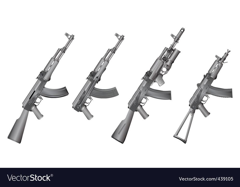Russian gun vector