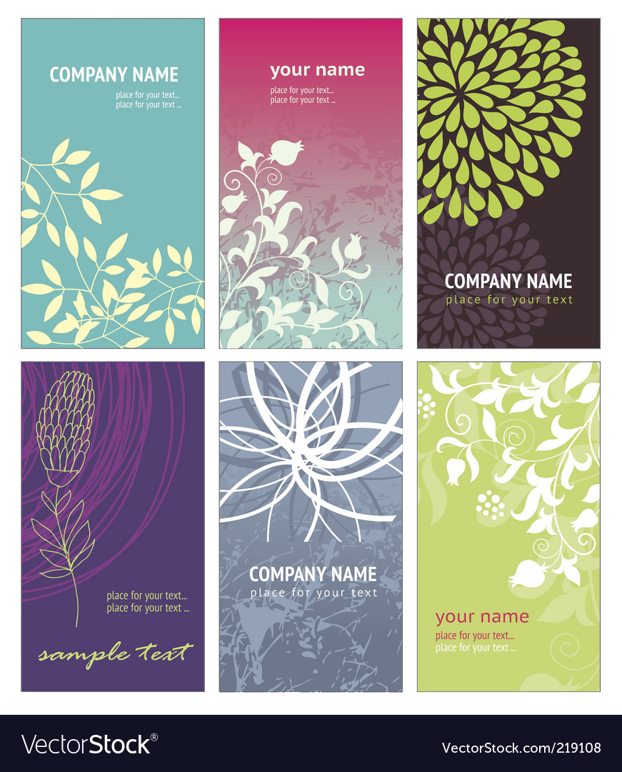 Vertical business cards vector