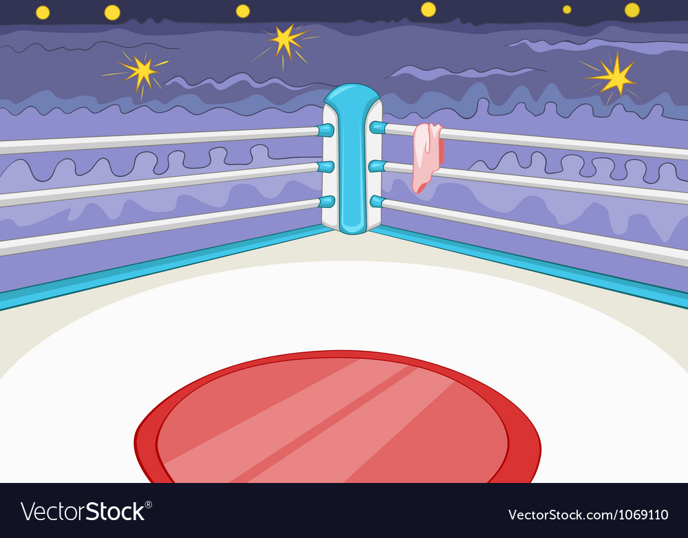 Boxing ring vector