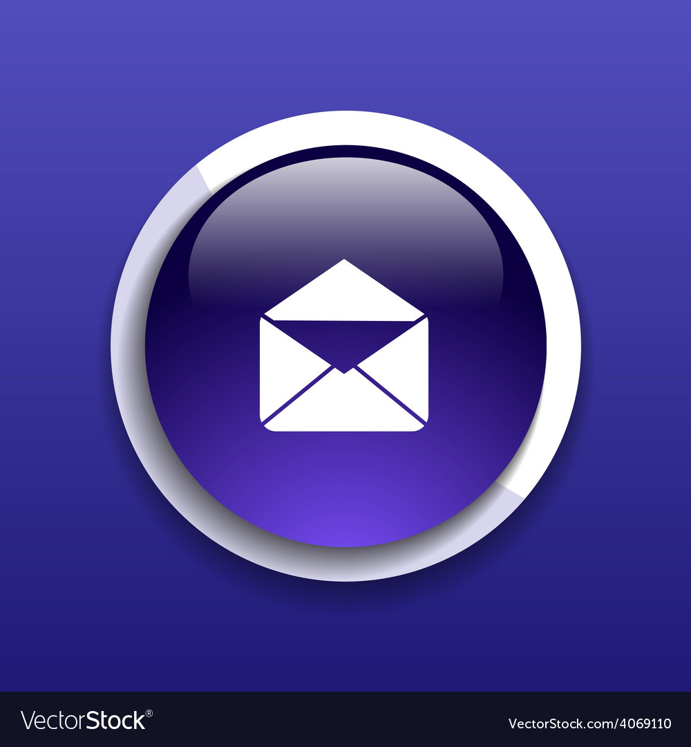 Envelope mail icon letter post email envelope vector