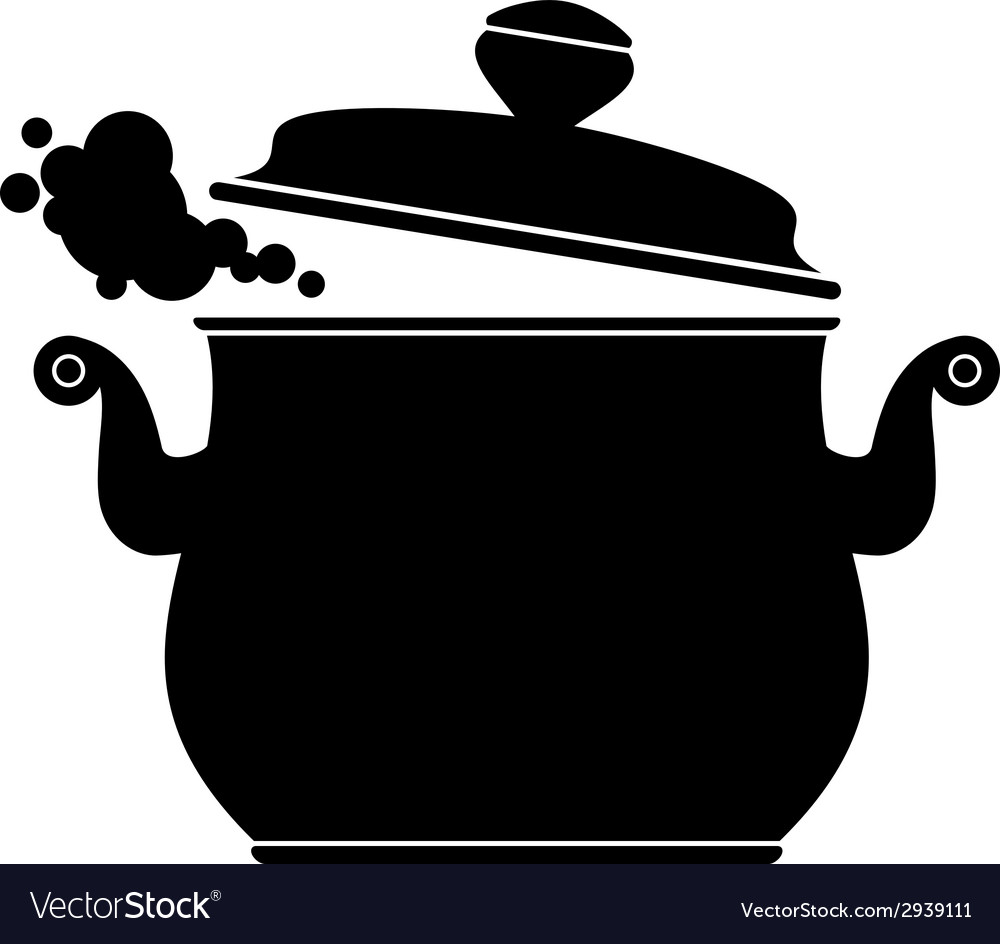 Cooking pan silhouette vector