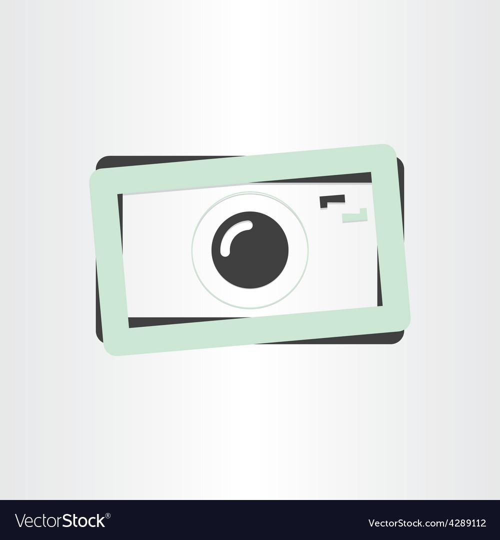 Digital camera photography icon vector