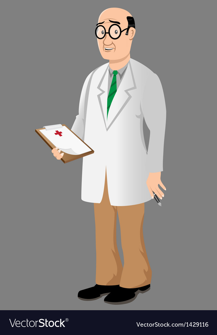 Doctor with bad news vector