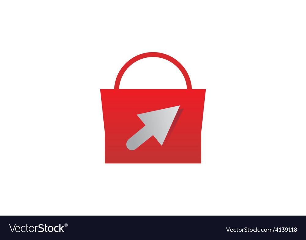 Shopping bag online logo vector