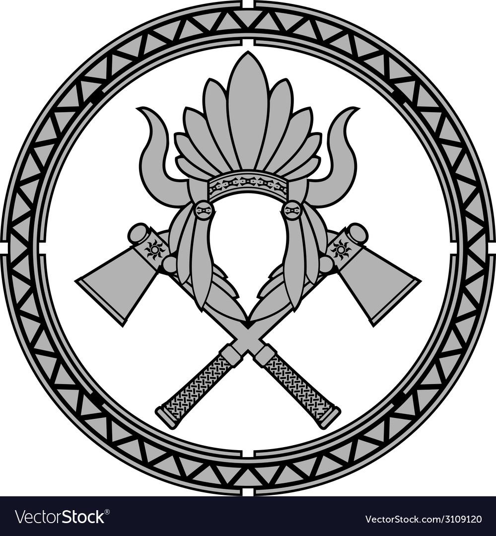 American native indian headdress vector